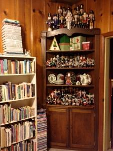 Books on shelves, books on top of shelves