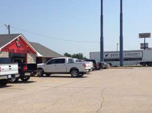 ...and in the parking lot of the Chair Crushers restaurant was the Feed The Children trailer.