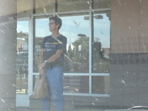 If you are going to panhandle outside starbucks, you might not want to wear this shirt