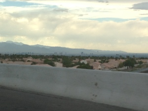 It's hard to see, but that's Vegas!