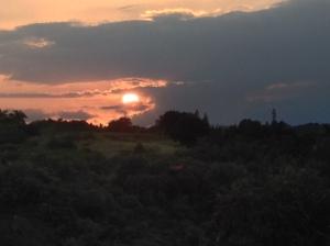 sunset across the ravine