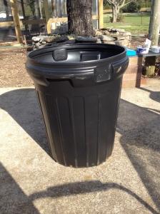 My Family Dollar $10 trash can.