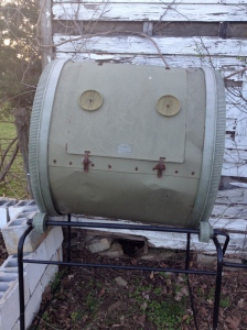 Did you notice his goofy, happy compost face?