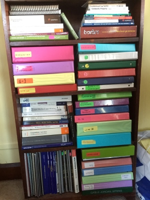 Law school in a bookcase